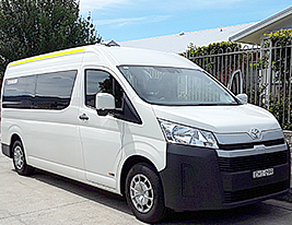 Toyota Hiace minibus to drive residents on excursions