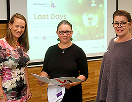 Last Days Program Palliative Care HammondCare Rachael Zielinksi Corinne Bozsoky Melanie Gould