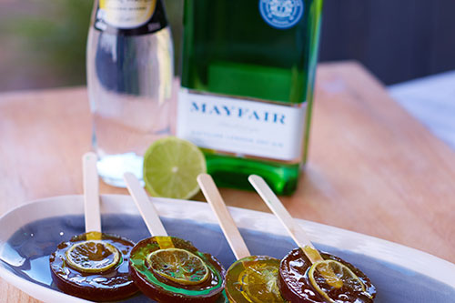 Gin and tonic lollipops 500